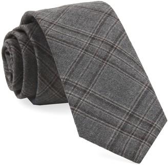Tie Bar Johnstone Plaid Grey Tie