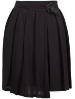Art School - Pleated Mini Skirt - Womens - Black