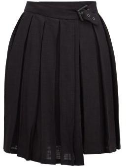 Art School Pleated Mini Skirt - Black