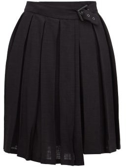Art School - Pleated Mini Skirt - Womens - Black