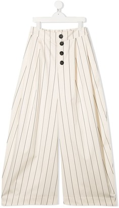 Unlabel TEEN Clover pinstriped culottes