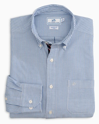 Southern Tide Icy Striped Stretch Oxford Button Down Shirt