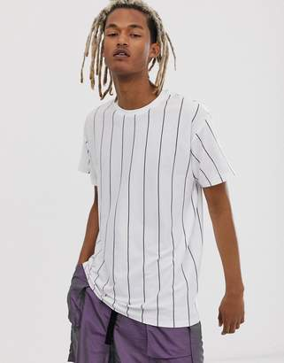 New Look vertical stripe t-shirt in white