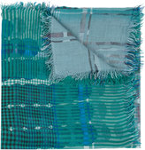 Faliero Sarti checked pattern scarf