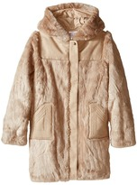 Chloe Kids Hooded Faux Fur Coat (Big Kids)