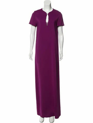 Lanvin Cap Sleeve Evening Gown Violet
