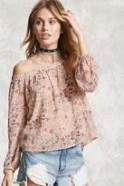 Forever 21 Contemporary Floral Print Top