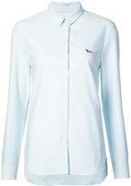 MAISON KITSUNÉ logo slim fit shirt - women - Cotton - 34