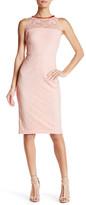 Jessica Simpson Embellished Neck Lace Sheath Dress