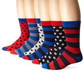 Ben Sherman Men's 6 Pack Frederick Crew Socks