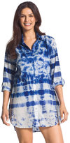 Chico's Tangier Waters Shirtdress Swim Cover Up