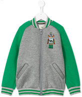 Fendi monster patch varsity jacket - kids - Cotton/Modal - 4 yrs