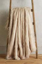 Anthropologie Animalia Faux-Fur Throw Blanket