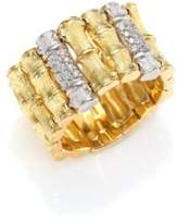 Roberto Coin Bonsai Diamond, 18K Yellow Gold & 18K White Gold Ring