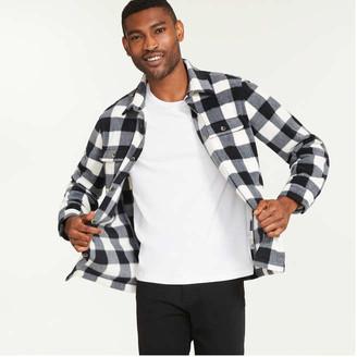 Joe Fresh Men's Fleece Shirt Jacket, Off White (Size XS)