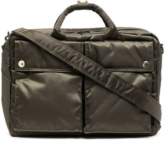 Porter Yoshida & Co x Mackintosh quilted briefcase