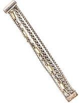 David Yurman Two-Tone Four Row Assorted Chain Bracelet