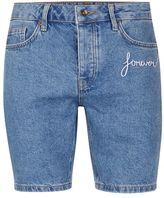 Topman Blue Forever Slim Denim Shorts