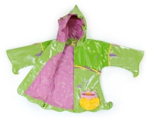 Kidorable Little Girl with Comfy Polyester Lining Fairy Raincoat