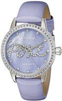 Stuhrling Original Women's 519P.1115V78 Vogue Audrey Peace Swiss Quartz Mother-Of-Pearl Dial Swarovski Crystal Lavender Watch