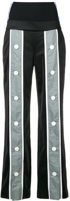 NO KA 'OI Button Detail Striped Trousers
