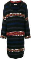Mes Demoiselles embellished stripe jumper dress