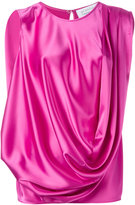 Gianluca Capannolo draped blouse - women - Polyester/Triacetate - 44