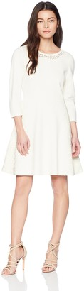 Eliza J Women's Sweater Dress with Lace Inset (Regular & Petite)