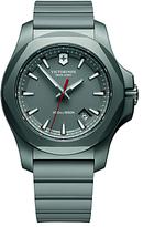 Victorinox 241757 I.n.o.x Titanium Date Rubber Strap Watch, Grey