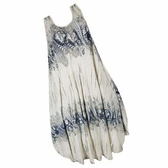 Moent Women Clothes Moent Women Vintage Plus Size Sleeveless Print Irregular Hem Loose Top Shirt Dresses(S-7Xl) Ladies Oversize Dress Beige