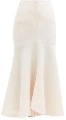Petar Petrov Ros Mermaid-hem Wool-jersey Skirt - Ivory