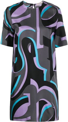 Emilio Pucci Abstract Print Shift Dress