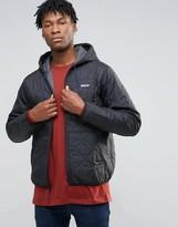 Patagonia Quilted Hooded Jacket In Black