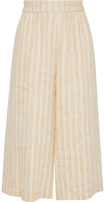 Acne Studios Misela Striped Linen Culottes