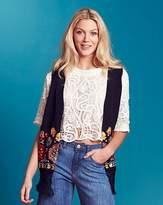 Fashion World Embroidered Fringed Waistcoat
