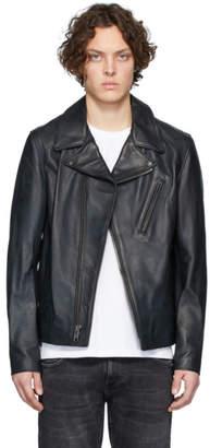 Schott Black Lightweight Cowhide Motorcycle Jacket