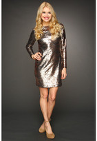 Jessica Simpson Long Sleeve Sequin V-Back Dress