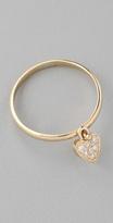 Jewelry Diamond Heart Drop Ring