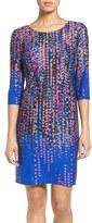 Chetta B Women's Confetti Print Knit Sheath Dress