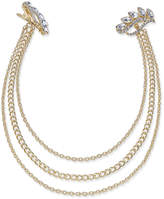 INC International Concepts Gold-Tone Navette Crystal Chain Clips, Created for Macy's