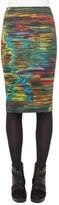 Akris Punto Women's 'Northern Lights' Print Stretch Jersey Pencil Skirt