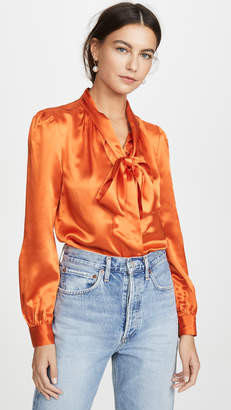 Tory Burch Silk Bow Blouse