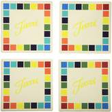 Thirstystone Occasions Stoneware Drink Coasters, Fiesta Masquerade Squares