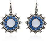 Nam Cho 18K White Gold Multi-Stone Earrings