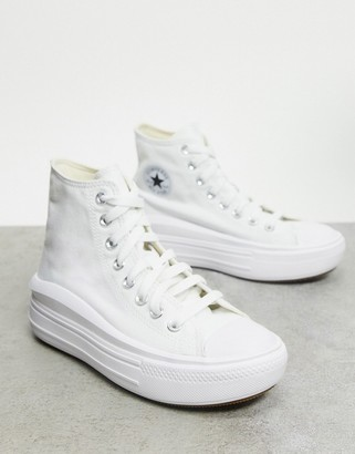 Converse Chuck Taylor Move platform hi trainers in white