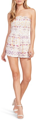 BB Dakota Day Trip Tie Dye Strapless Romper
