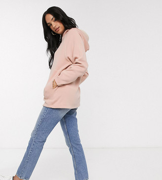 M Lounge Micha Lounge oversized hoodie with large pockets and contrast trim in Luxe velour