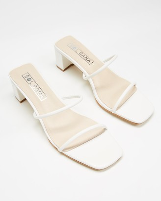 Sol Sana Women's White Heeled Sandals - Lottie Mules - Size 39 at The Iconic