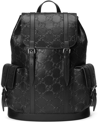 Gucci Logo-Embossed Backpack