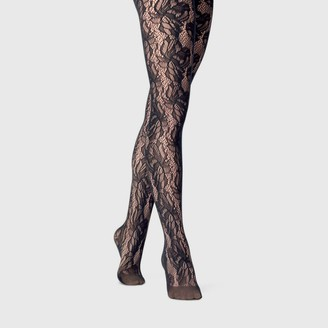 A New Day Women's Floral Net Tights